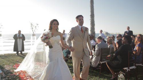 Scripps Seaside Forum Wedding just married