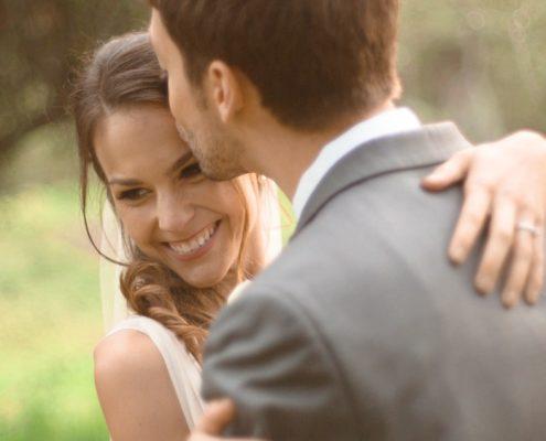 Bride and groom Mt Woodson Castle Ramona wedding