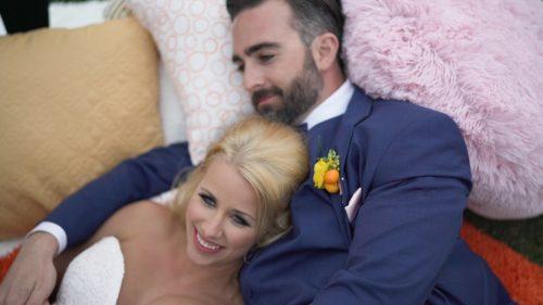 Crossings at Carlsbad wedding video bride and groom relax