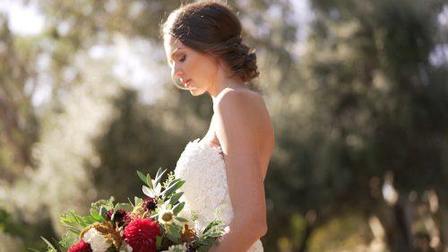 Bride at Lake Oak Meadows in Temecula.