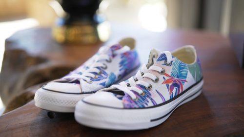 Brides Converse wedding shoes