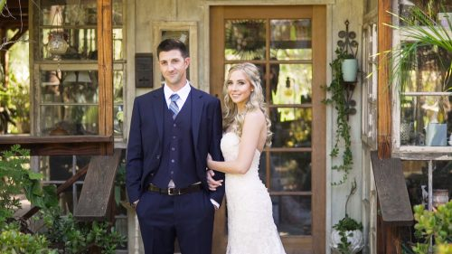 Bride and Groom at Condor's Nest Ranch